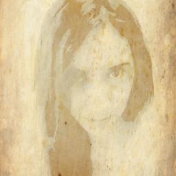 texture portrait edited