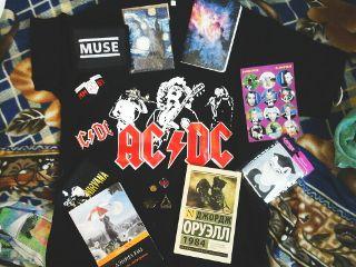 мерч атрибутика rock acdc muse