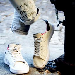 freetoedit liveagreatstory clone textoverlay macro shoes white illustration