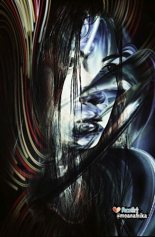 #Undefined #art to @emfotolive  Hope you like it dear  #artistic #mask #doubleexposure #fantasy #edited #portrait