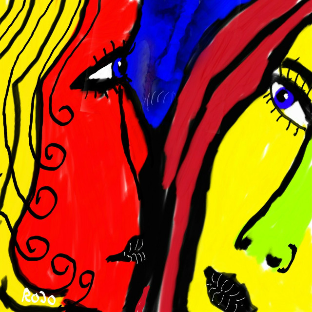 Hello / Adele  #rojo #artforpeace #freedoom #artforfreedom #drawing #art #colourful #PicsArt