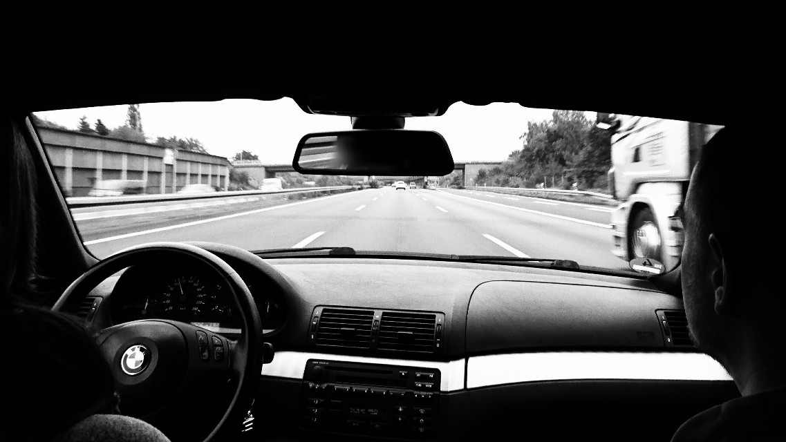 #wapblackandwhite #travel #journey to #berlin #bmw #e46 #drivingpleasure #Autobahn