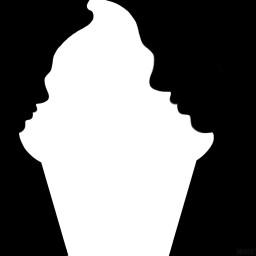 negativespace blackandwhite shapecrop madewithpicsart