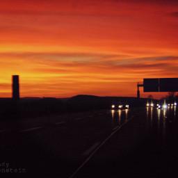 sunset ontheroadagain road autumn weekend