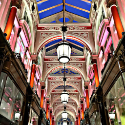 interesting london shopping architecture color