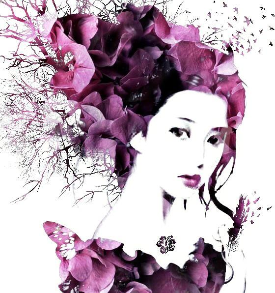 #people #flower #nature #digitalart #myart #doubleexposure  #face #surrealism
