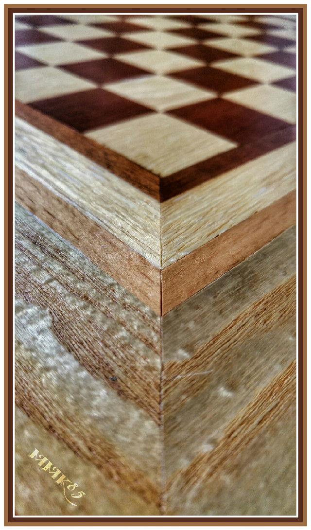 #angles #angle at my selfmade chessboard #hdr #hdreffect #lgg4 #wood #chess #chessboard #brown #closeup