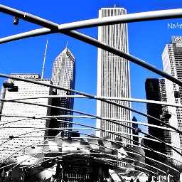 angles chicago travel blackandwhite colorsplash