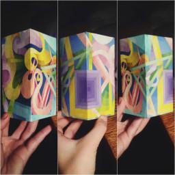 art study work colorful