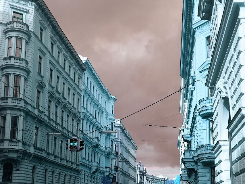 Vienna, Austria #vienna #wien #austria #structures #sky #photography #fall2015 #travel #hue #colours #pa #picsart