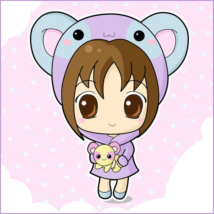 Cute love kawaii girl anime chibi avatar