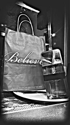 shopping cologne onemillion blackandwhite hdr