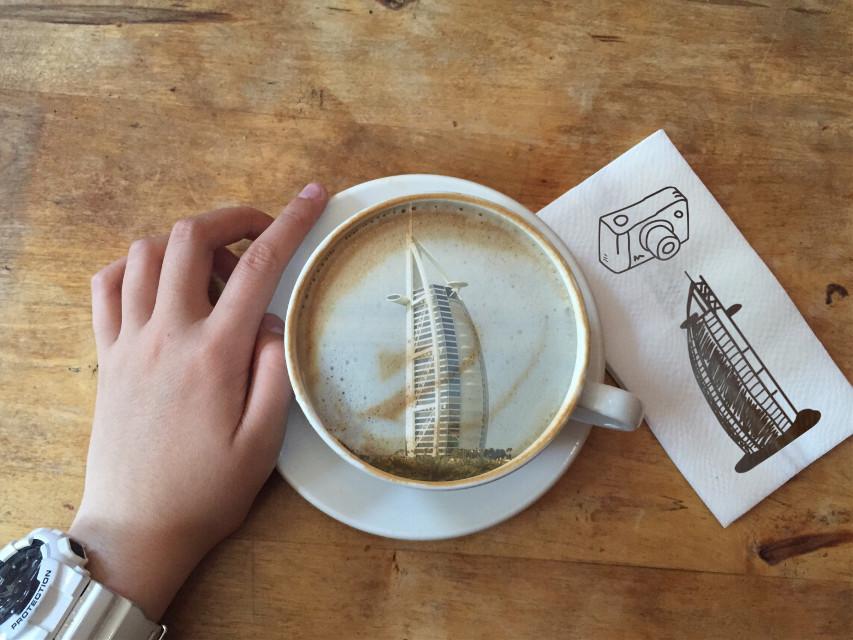 #fteyoutharts #coffee #travel #dubai #burjalarab #adventure