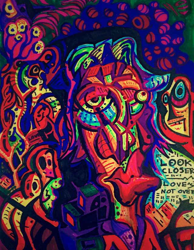 Look Closer Loves... : Art by Aaron D  #art #interesting #artist #surreal #abstract