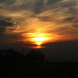 colorful sky in bangladesh