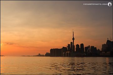 toronto cntower sunset