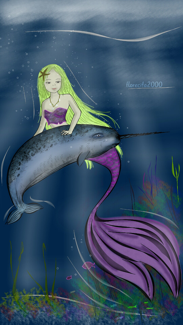 My drawing for #wdpnarwhal *-*  #digitaldrawing #drawing #myart #art #fantasy
