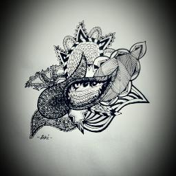 blackandwhite drawing