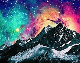 galaxy collage