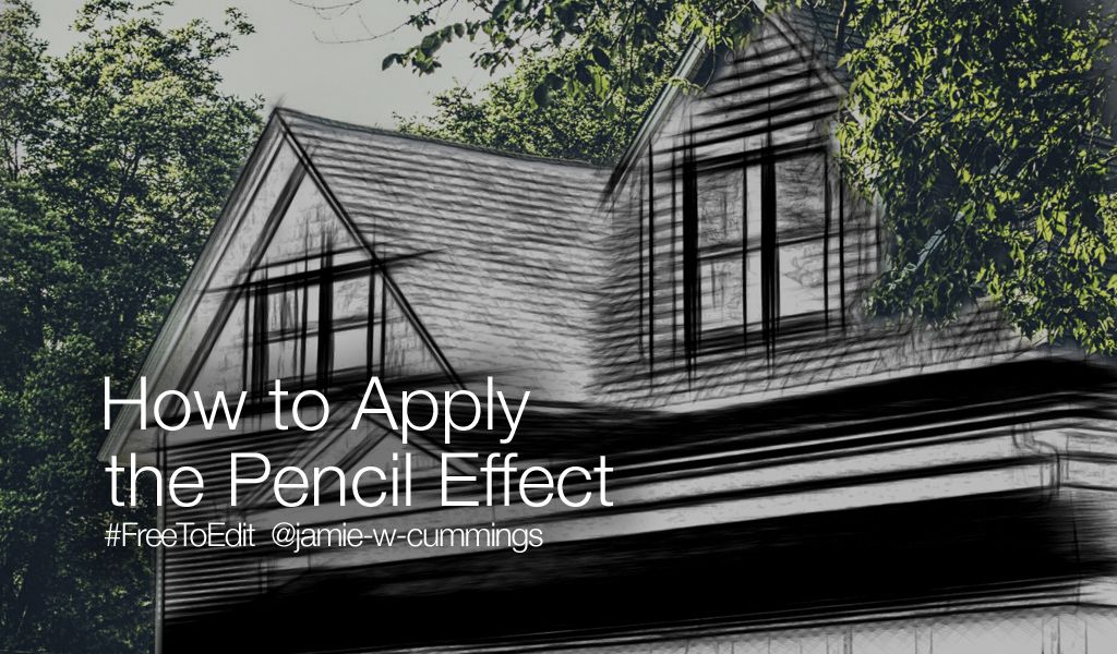 pencil effect tutorial