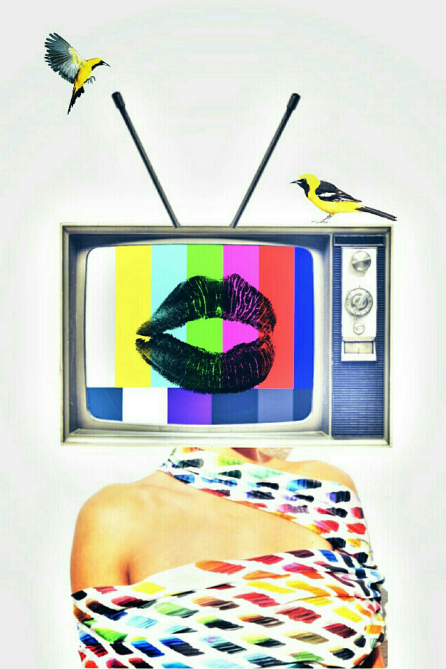 There's nothing good on television....  #myart #art #surreal #surrealism #creative #surrealArt #madewithpicsart #bored #colorful