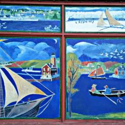 window painting hudsonriver