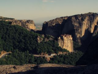 summer monastery building travel sunlight