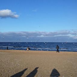 hdr beach sea poland