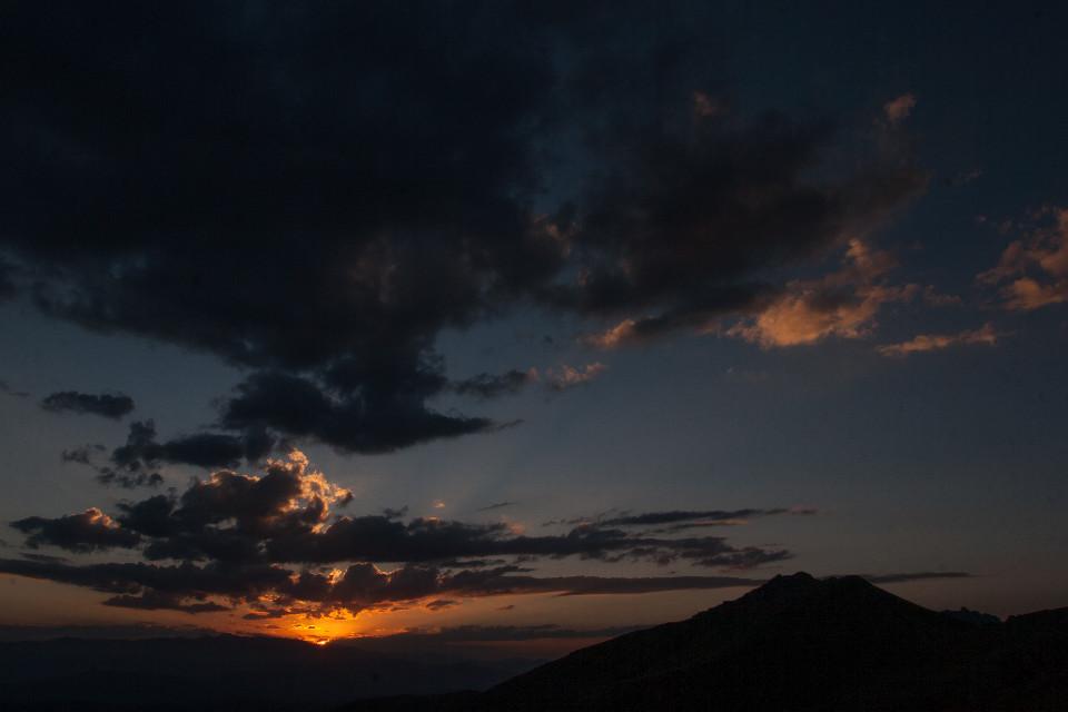 #freetoedit #nature #mountains  #clouds #sunset