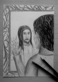blackandwhite love emotions pencilart drawing
