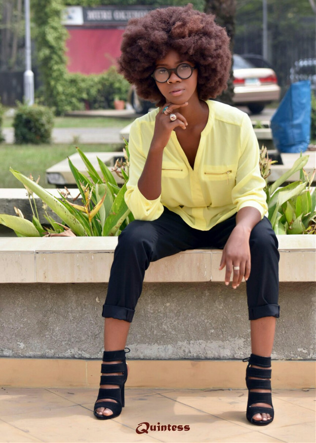 #retro #vintage #afro #wig #hair #eyeglasses #model #outdoor #photoshoot #photography #fashion #fashionista #park #garden #natural #yellow #black #slim #girl #magazine #coverpage #advertising #advert #product #marketing #sales #nikon #nigeria #africa #quintess