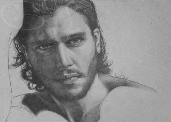 drawing justpencil portrait blackandwhite kitharington