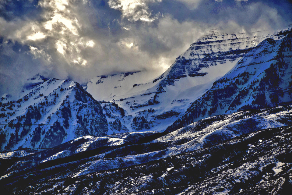Stone Cold #landscape#nature#mountains#snow #winter#freetoedit