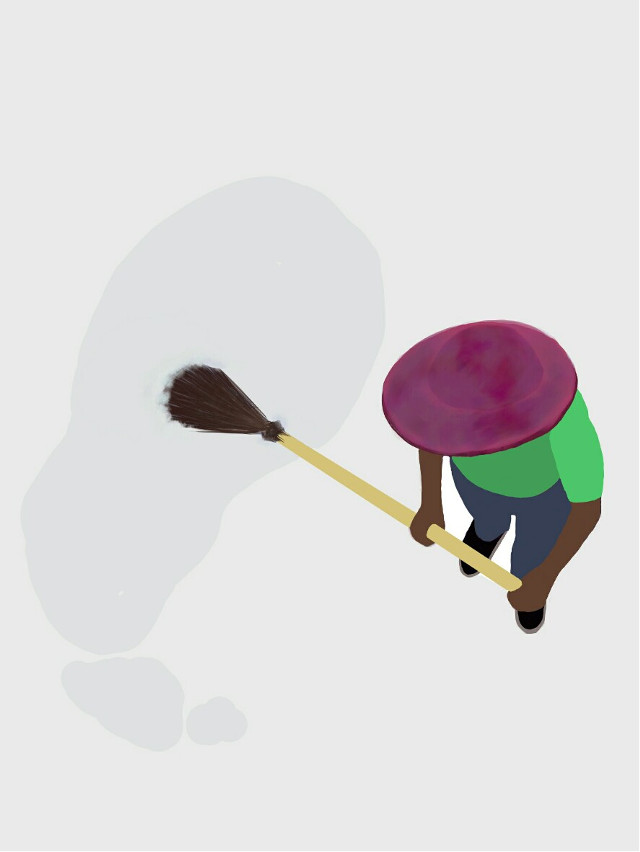 Clean up  #picart  #broom #mexico #hat #puddle #water