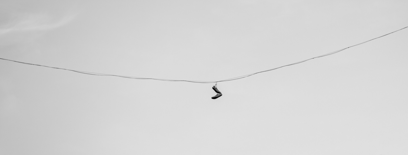 Shoes on the wire #shoes #sky #wire #black&white