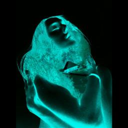 neonblue neon blackandwhite photography art