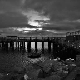 blackandwhite photography sunrise waterfront ocean