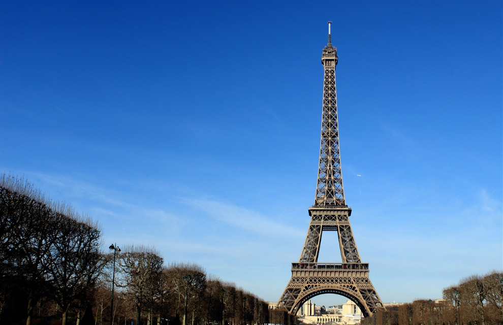 Eiffel Tower on a Sunny Winter Day, Paris, France  #paris #france #eiffel #tower #city #skyline #wallpaper #colorful #summer #travel #photography  @pa #softcolors