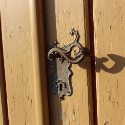 wooden door handle doorhandle detail