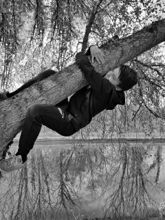 weekend blackandwhite tree reflection