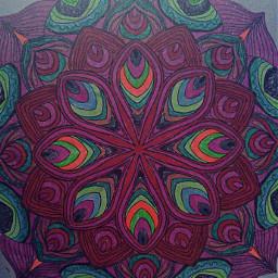 mandala art colorful