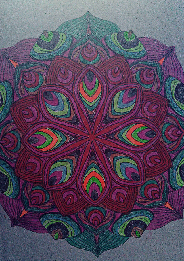 Done by my 11 year old daughter #mandala #art #colorful