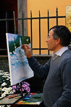 portofino artist draw quadro sea