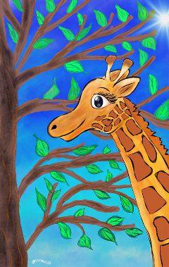 wdpzooanimals giraffe drawing art petsandanimals