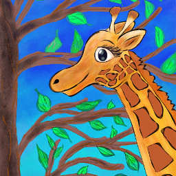 dcwildlife dcjungles giraffe drawing art