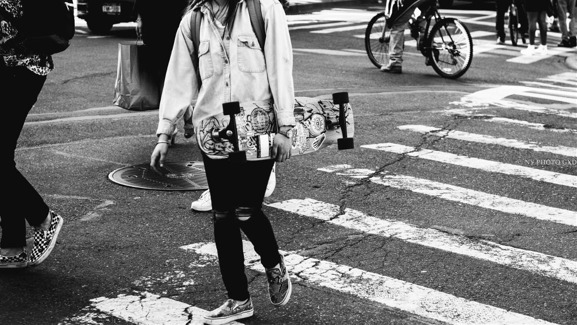 #freetoedit #Newyork #NYPhotoGXD #blackandwhite #skate #fashion