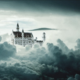 freetoedit edited castle clouds sky