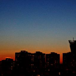 landskape city sunset relaxing