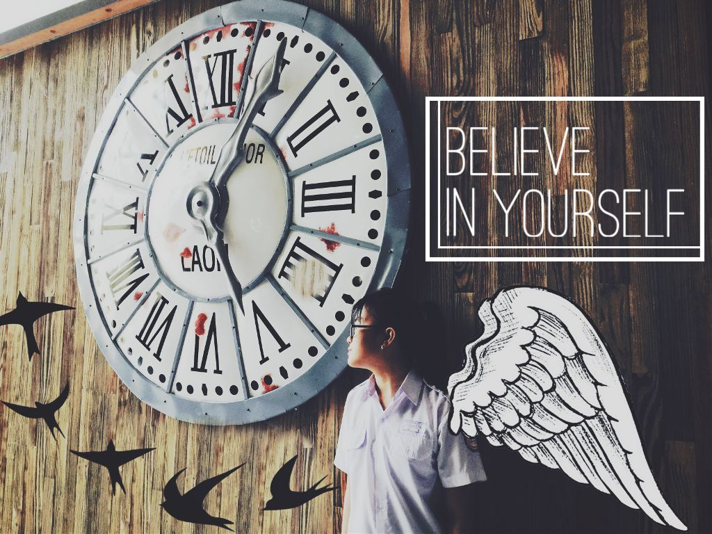 Taken and edited by me Model: @ngnnguyn101 Be free and believe in yourself! #ootd ? #uniform =)))))   My ig: nganngo12202 #befree #free #emotions #people #freedom #fly #believeinyourself #cliparts #birds #clock #effects #interesting #art #freetoedit #edit #edited #photography #photostory
