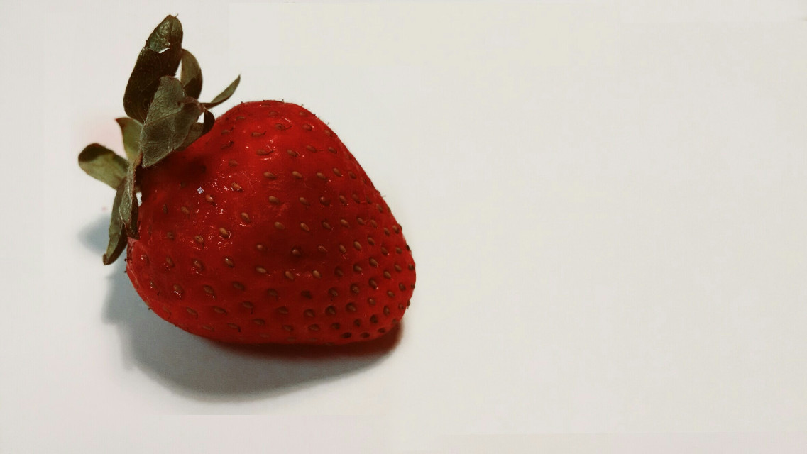 #minimalism  #strawberry  #red
